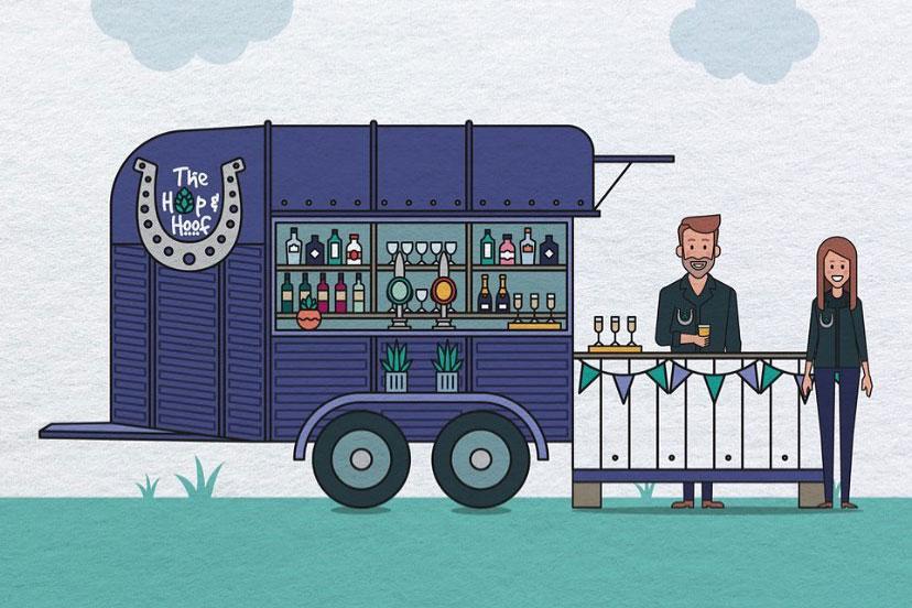 horsebox bar illustration